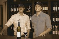 Happy Canyon Vineyards' Sean Pitts, left