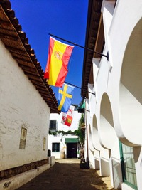 "The flag-topped ""Street in Spain"" (Gabe Saglie photo)"