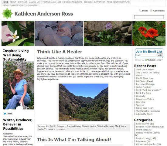 Kathleen Anderson Ross Sustainable Living