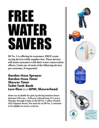 Free Water Savers for Customers