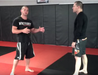 Super easy takedown from back clinch - Foot Trip
