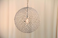 "Metal Bubble Lamp 18"""