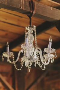 "Medium Glass Chandelier 20"" H x 26"" W"