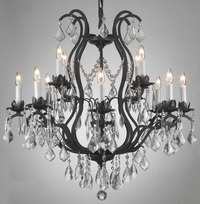 Medium Wrought Iron Chandelier