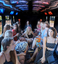Santa Barbara Party Bus Interior