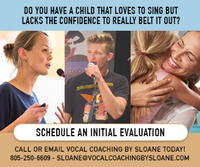 Vocal Coaching By Sloane Flyer