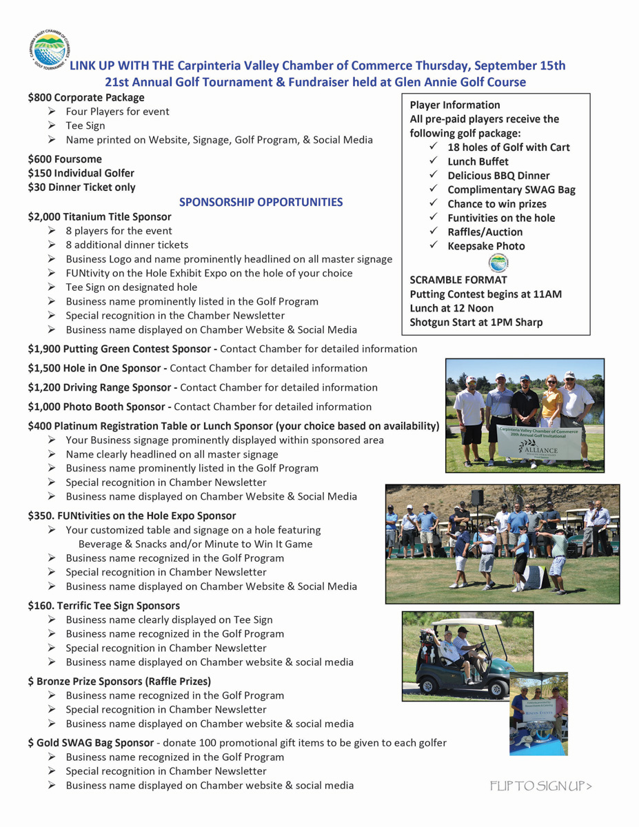 2016 Golf Tournament Sponsorship