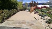 Old World Cobble Paver driveway + Flagstone driveway entry/apron