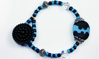 Blu Moo Button Bracelet
