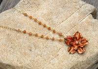 Copper Flower Necklace-2