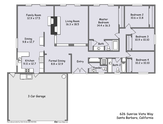 626 Sunrise Vista Floorplan