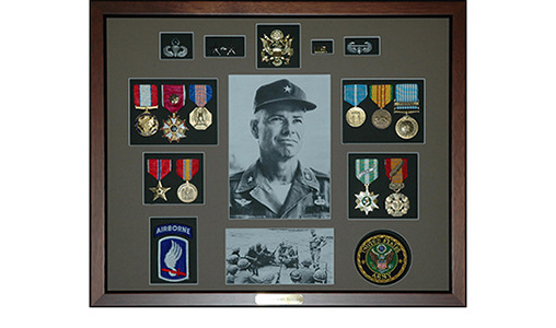 Veterans Building Shadow Boxes
