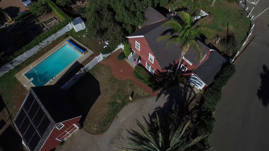 1189 No Ontare Rd Santa Barbara Calif-AERIAL VIEW W/POOL