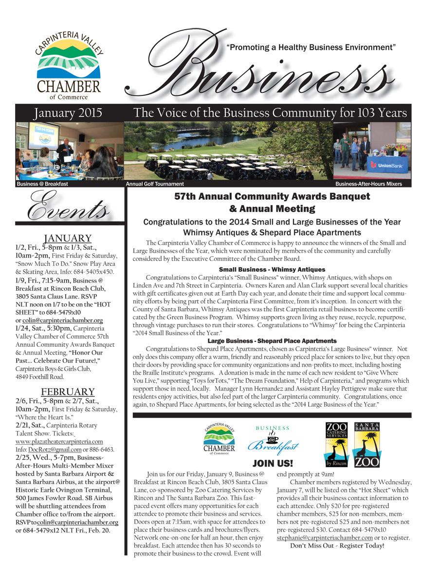 2015 January Newsletter