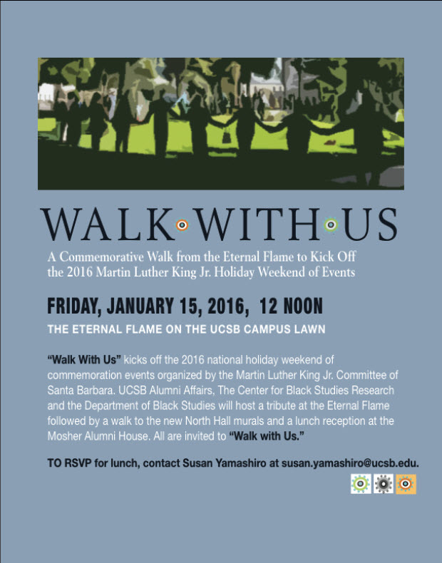 "MLK Jr. Weekend Kickoff Event: ""WALK WITH US"""