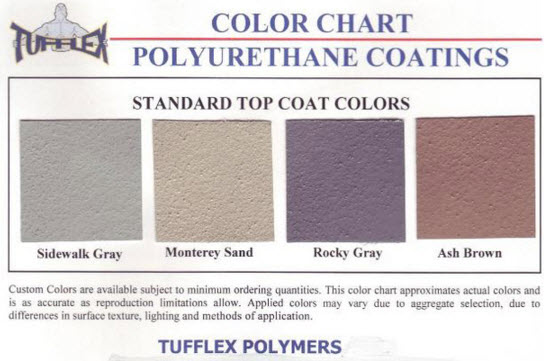 Tufflex Color Chart
