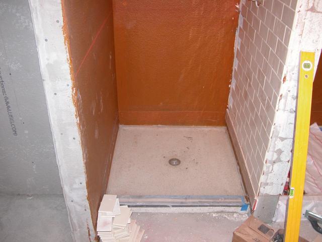 Below Grade Systems Surface FX Inc Santa Barbara CA - Bathroom membrane for tiling