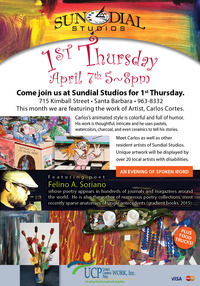 Sundial Studios First Thursday Spring Art Show and Sale April 7, 2016