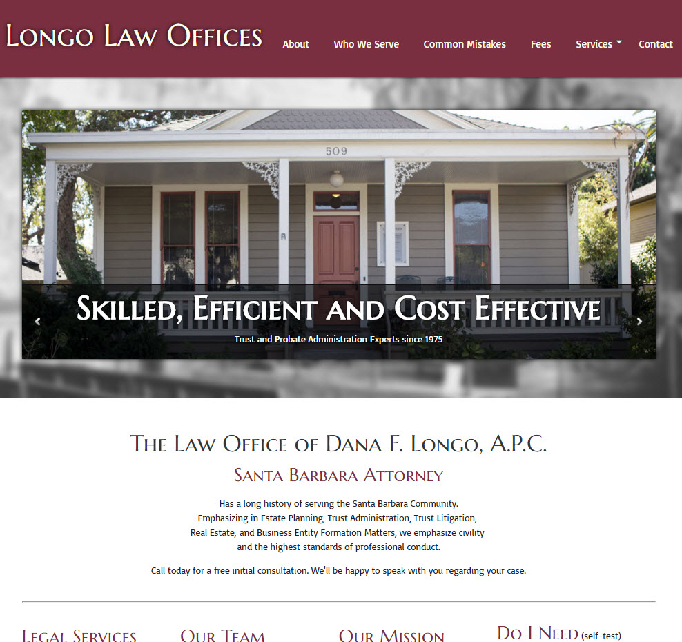 Santa Barbara Attorneys - Longo Law Offices - Homepage