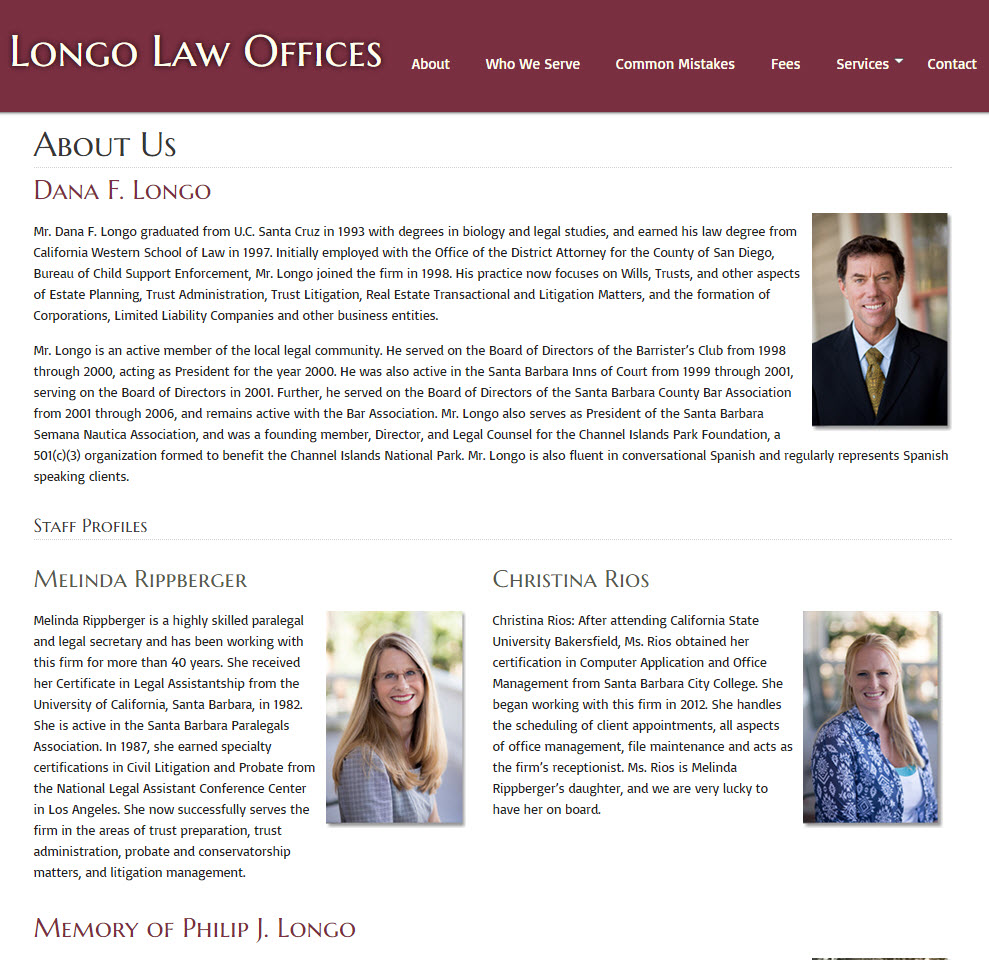 Longo Law Offices - About Page
