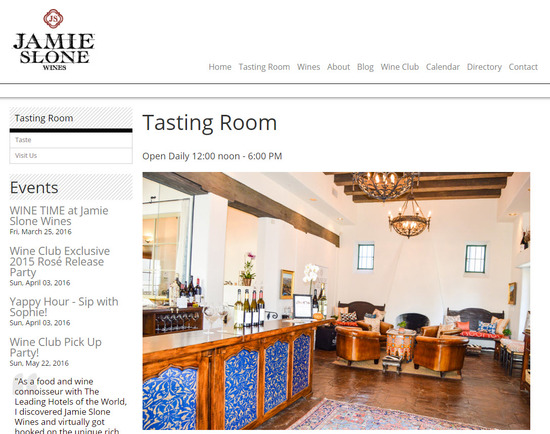 Santa Barbara tasting Room - Jamie Sloan Wines Santa Barbara