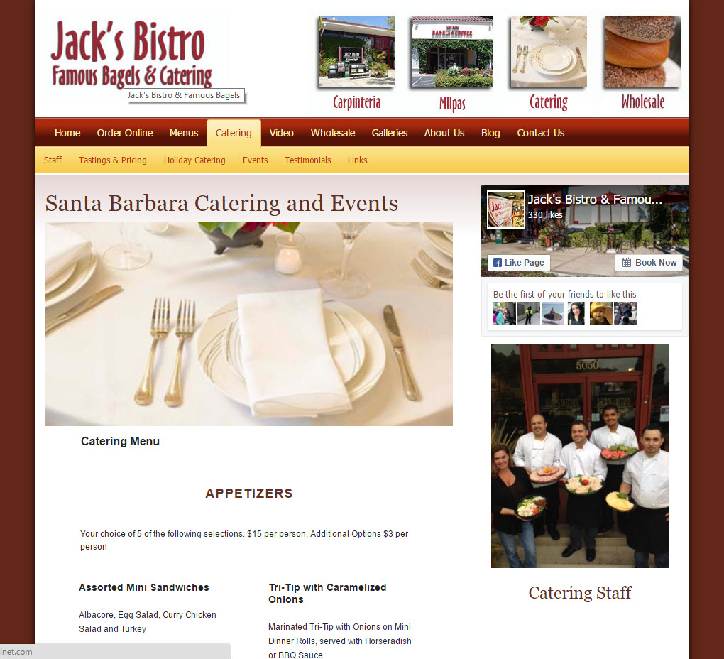 Jack's Bistro Famous Bagels & Catering - Catering