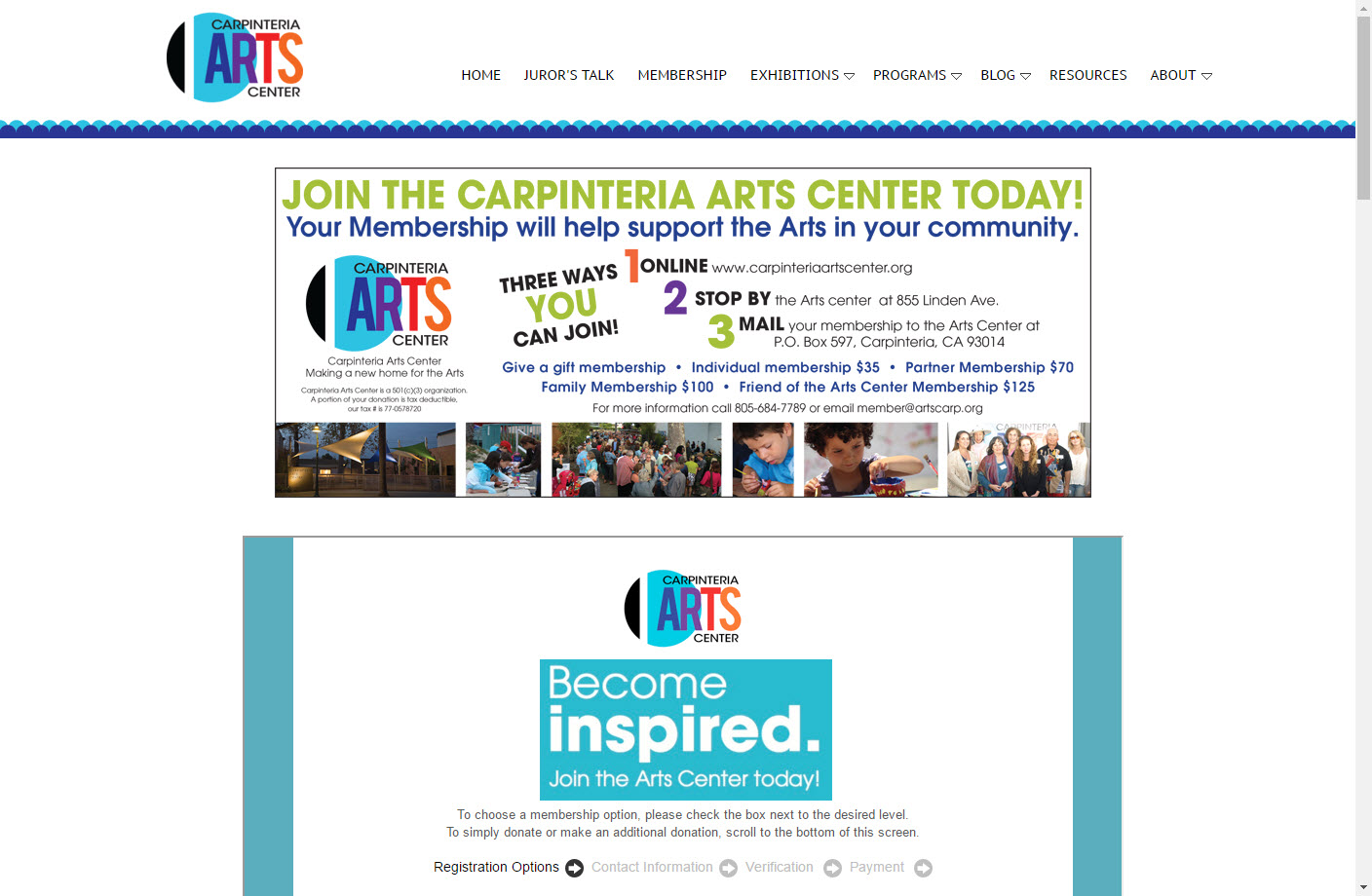 Join the Arts Center - Capinteria Arts center
