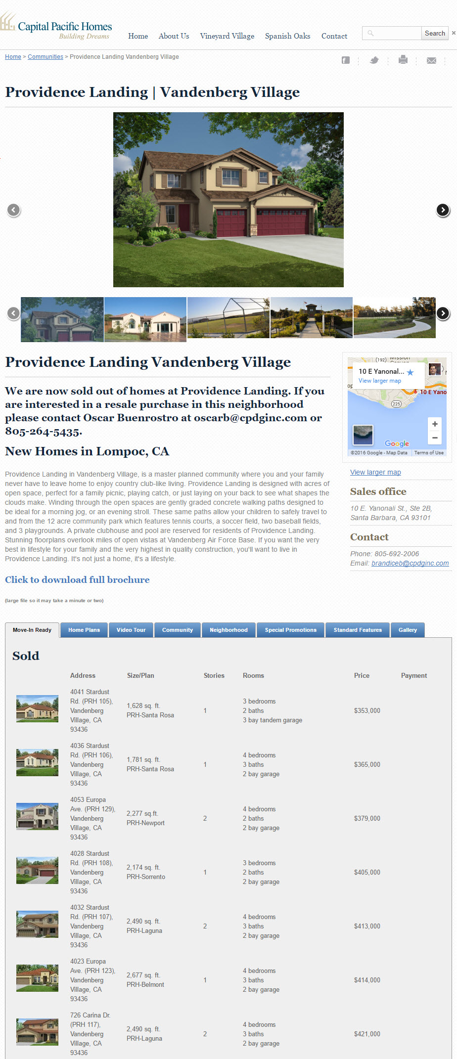 Planned Communities Developer - California Central Coast Home Builders