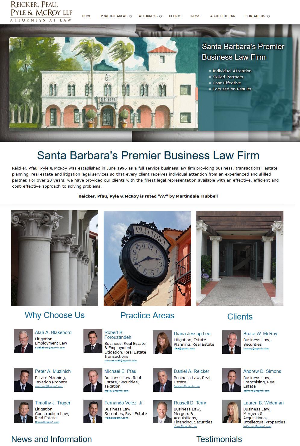 Santa Barbara Premier Attorneys - Reicker, Pfau, Pyle & McRoy