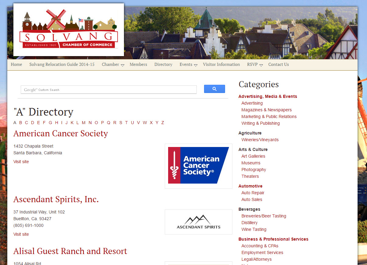 Solvang Chamber of Commerce Member Directory