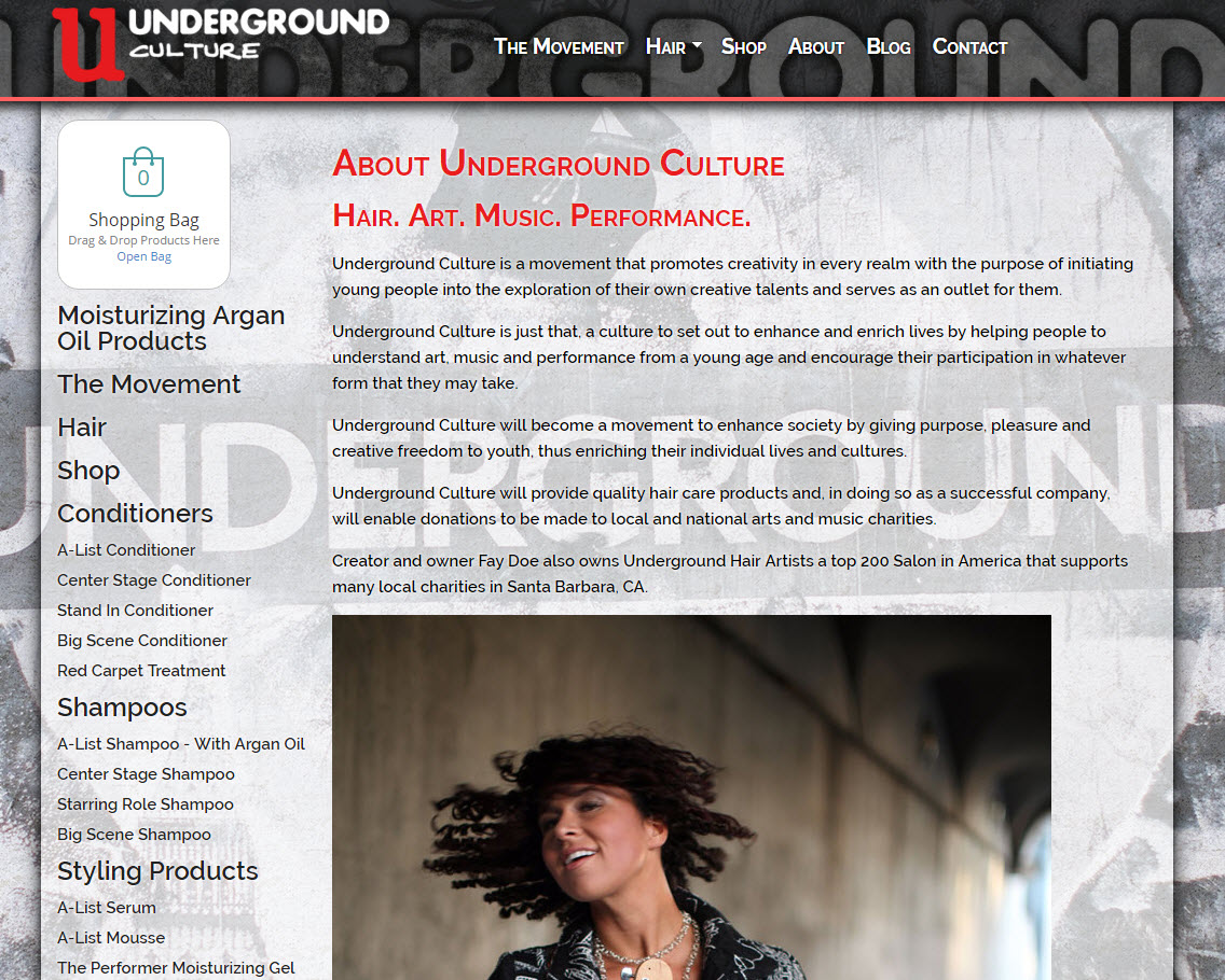 Underground Culture is Hair Art Music and Performance