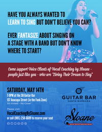 Vocal Coaching by Student Showcase at The Guitar Bar