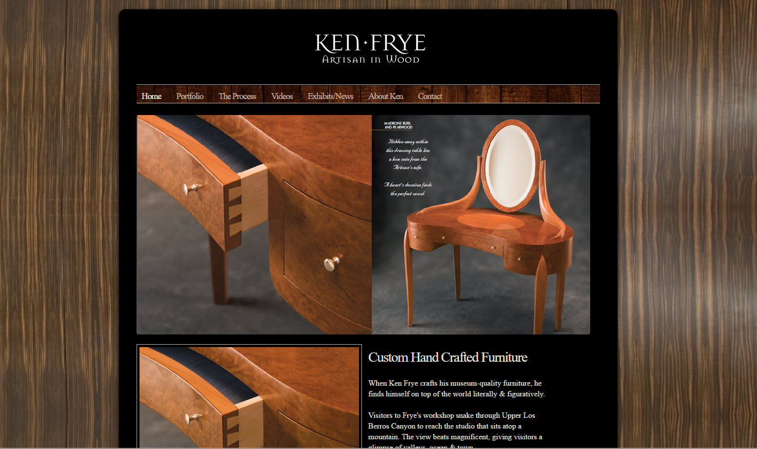 Custom Handcrafted Furniture - Ken Frye