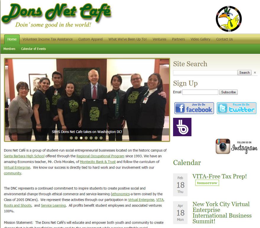 Dons Net Cafe - Santa Barbara High School