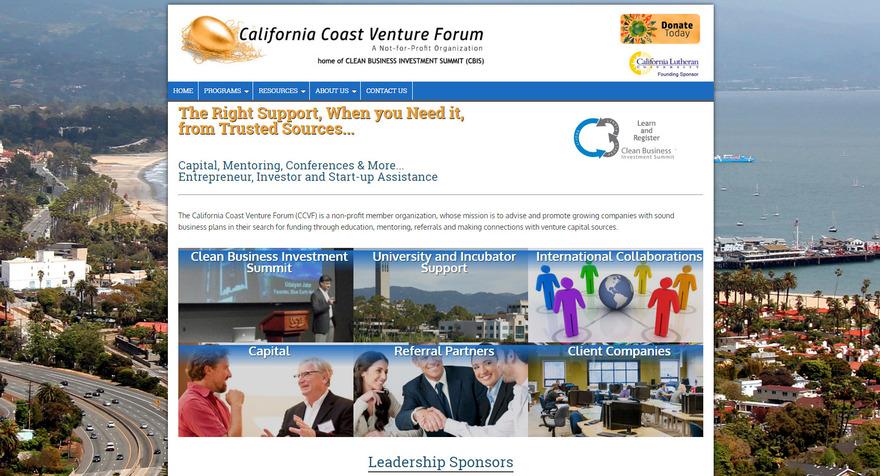 Clean Business Investment Summit - California Coast Venture Forum