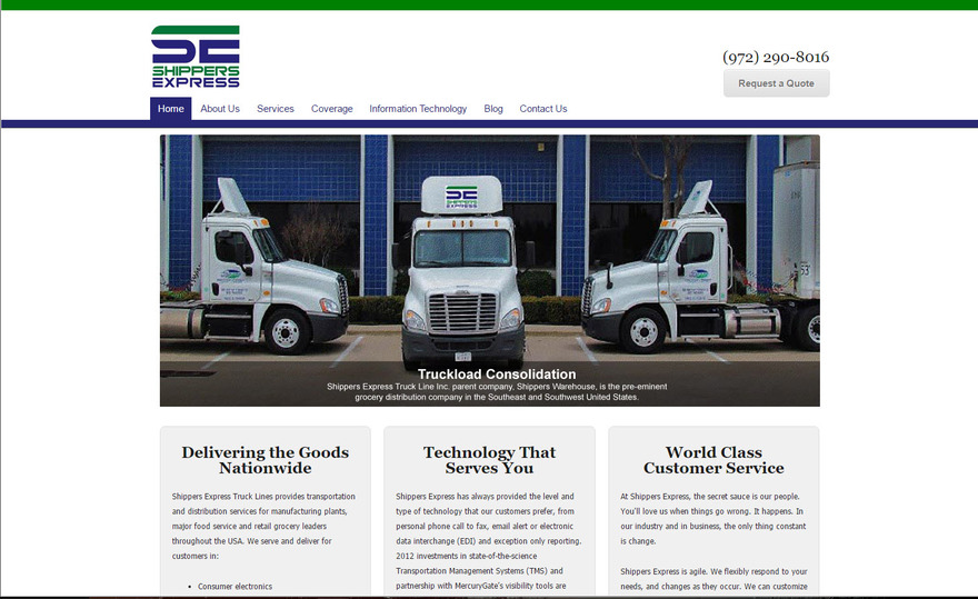 Grocery Trucking LTL/LT - Shippers Express Truck Lines