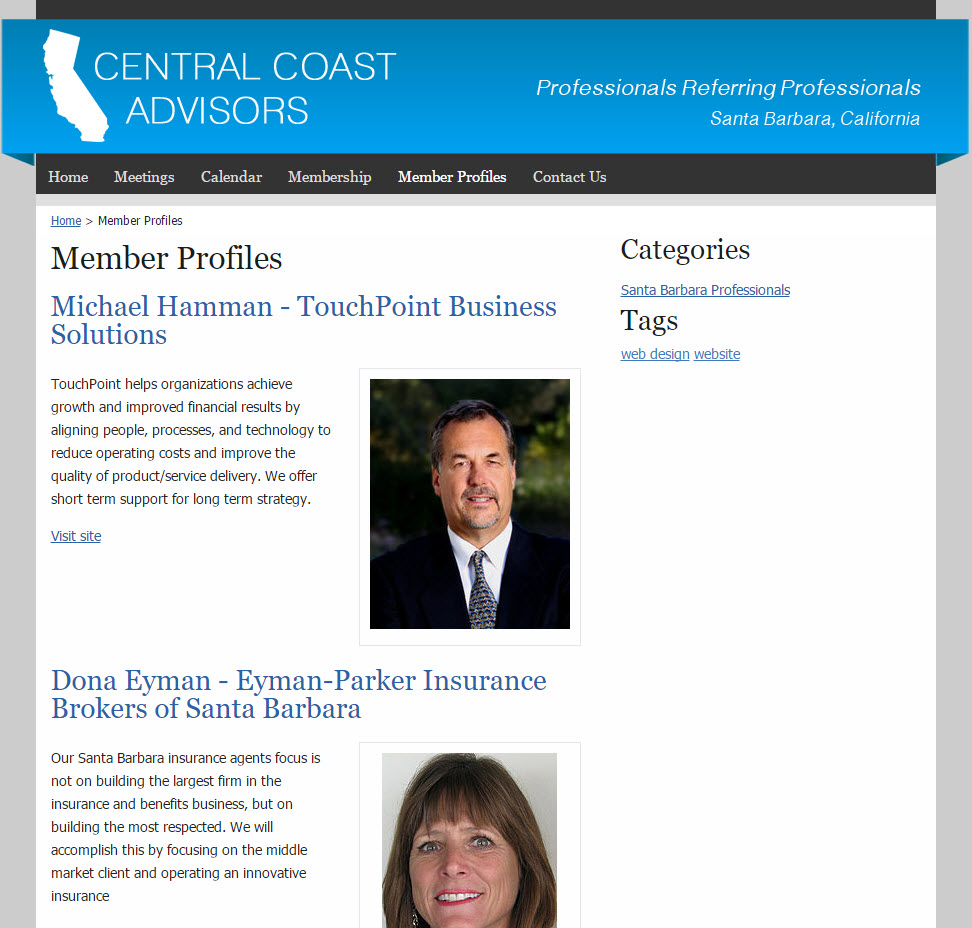 Central Coast Advisors - Business Members Page