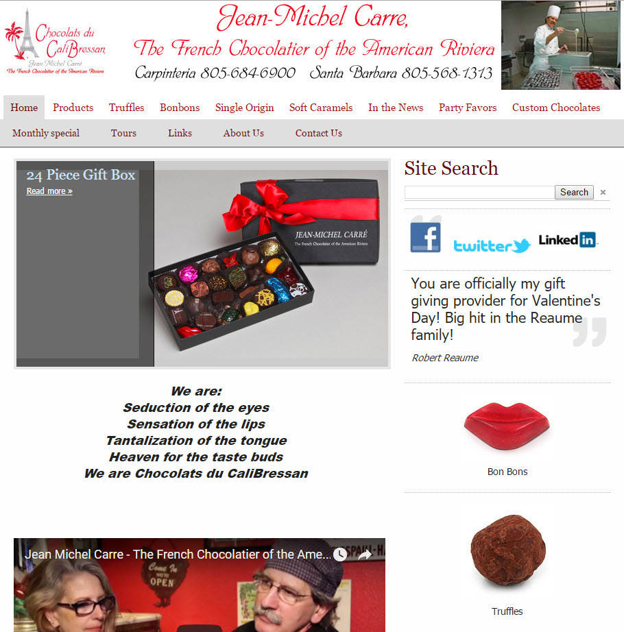 Chocolats du CaliBressan - Home Page