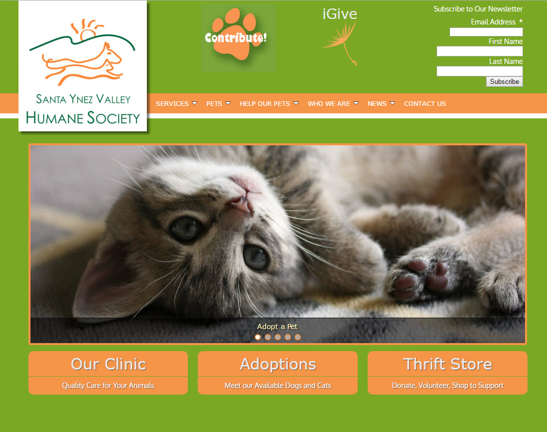 Santa Ynez Humane Society - Home Page