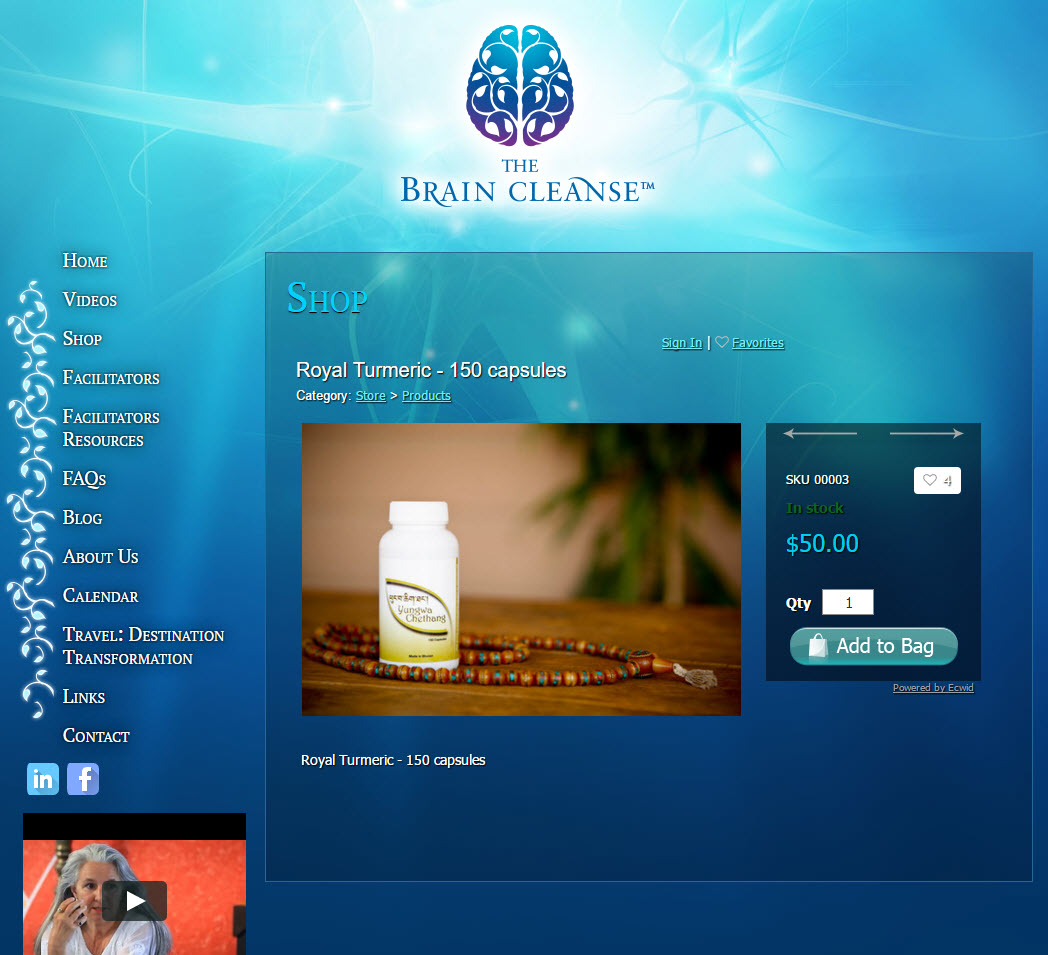 The Brain Cleanse� - shopping cart product page