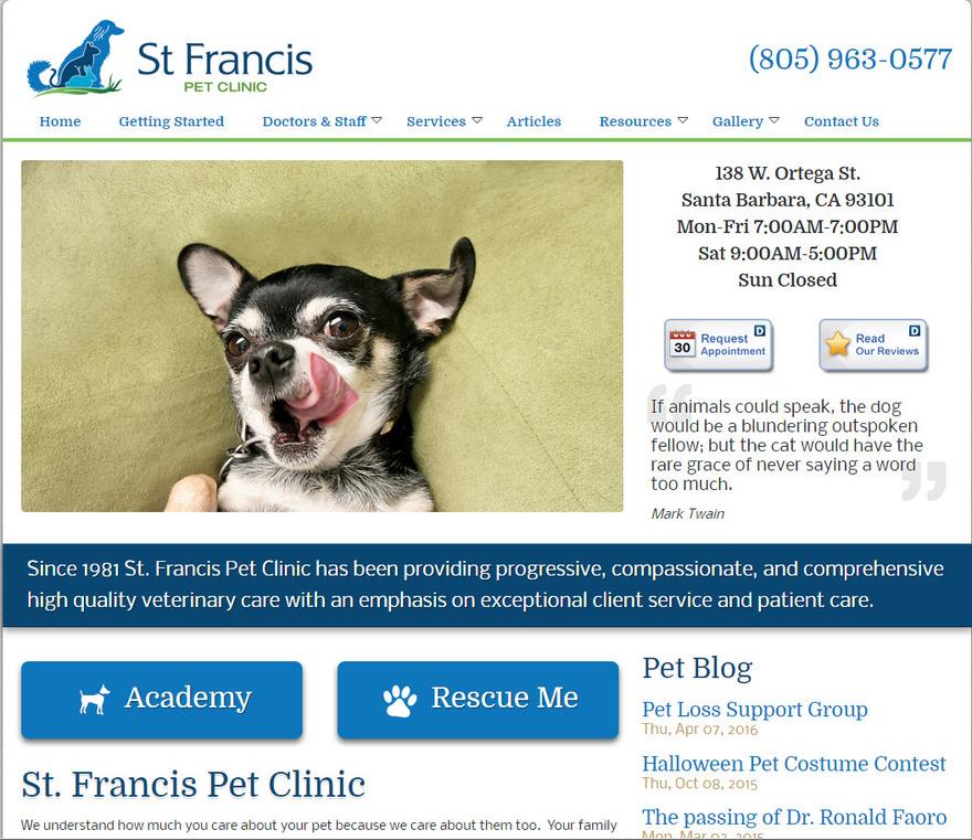 Pet Clinic - St. Francis Pet Clinic | Santa Barbara CA