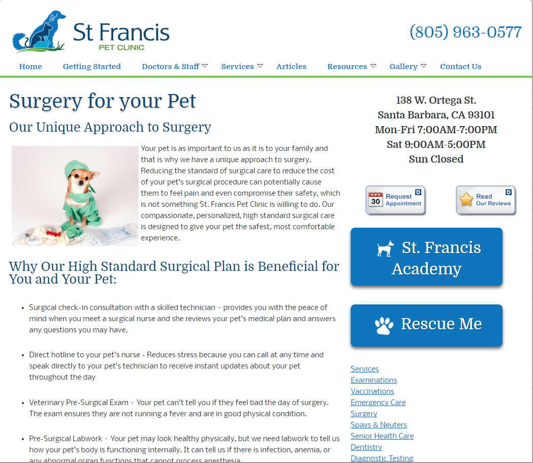 Pet Clinic - St. Francis Pet Clinic