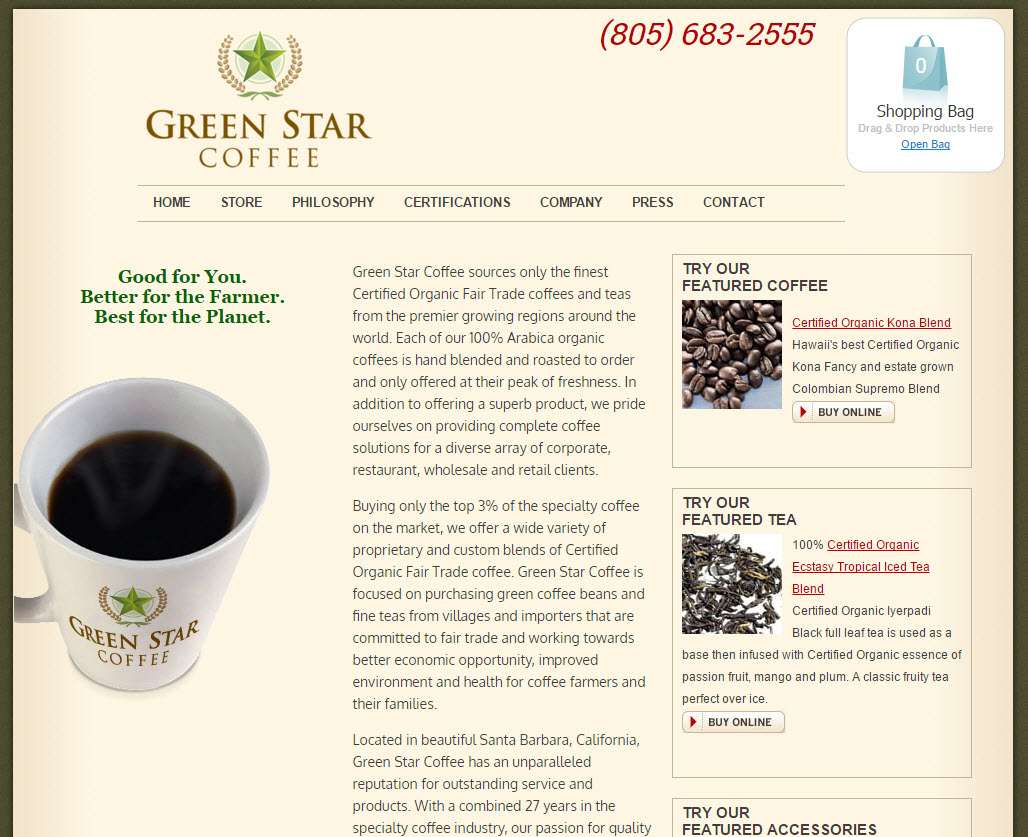 Green Star Coffee Santa Barbara