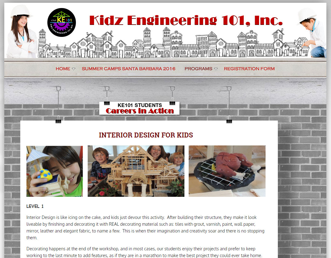Kidz Engineering Summer Camp - Learning Interior Design