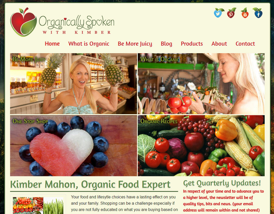 Organically Spoken - Food and Products For Life
