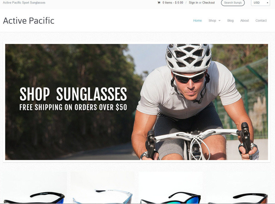 Active Pacific | Active Pacific Sport Sunglasses