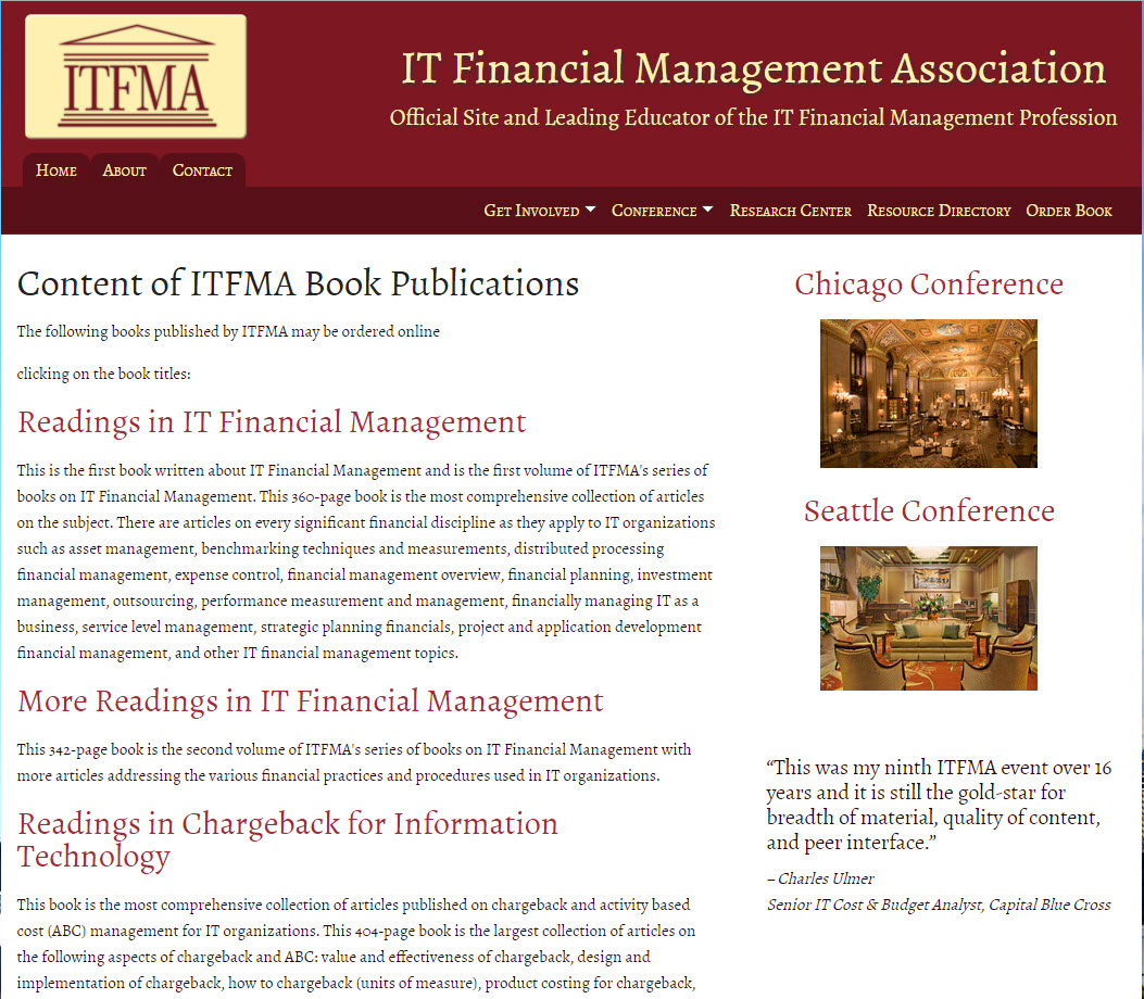 IT Financial Management Association - Order-Book