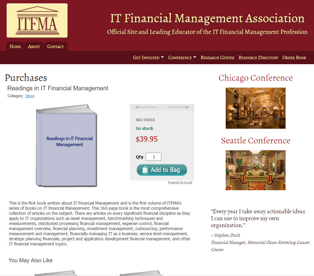 IT Financial Management Association - Check Out