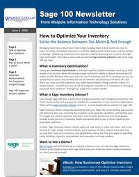 Sage 100 Newsletter - September 2015
