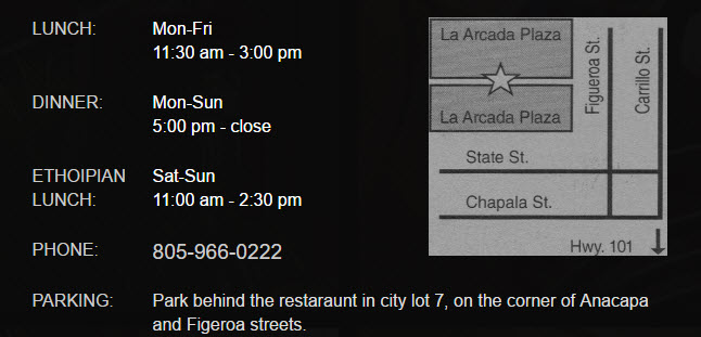Directions to Petit Valentien Restaurant